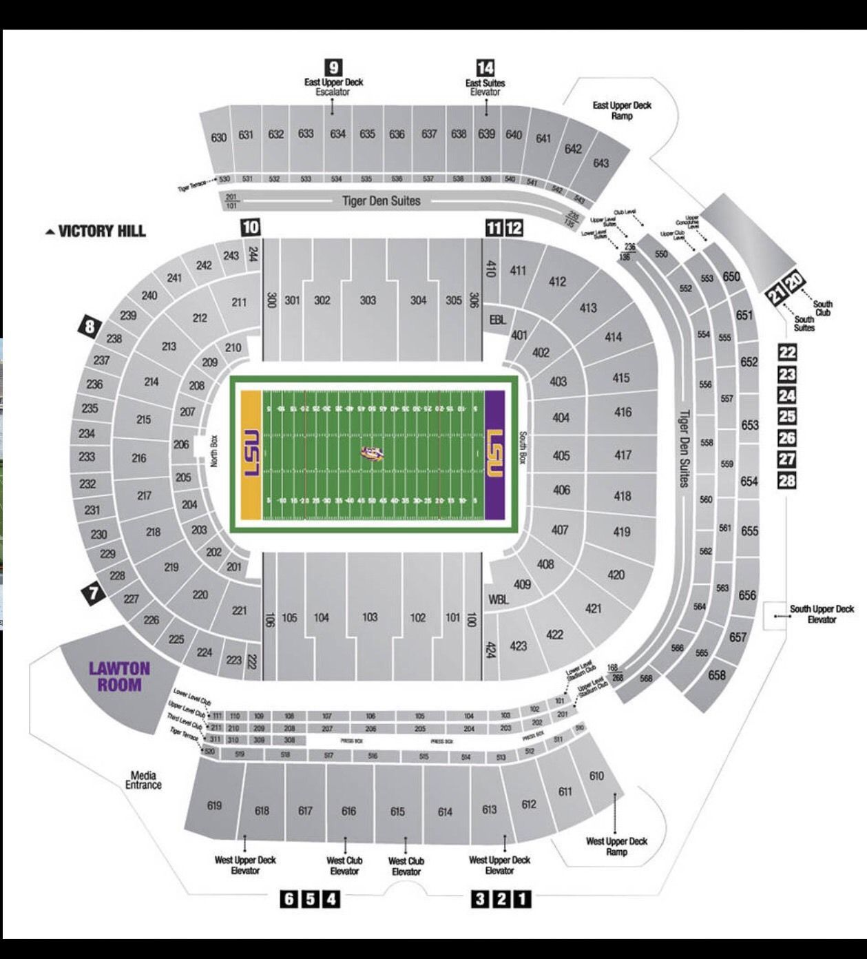 LSU football season tickets EXCLUDING ALABAMA GAME ! Section
