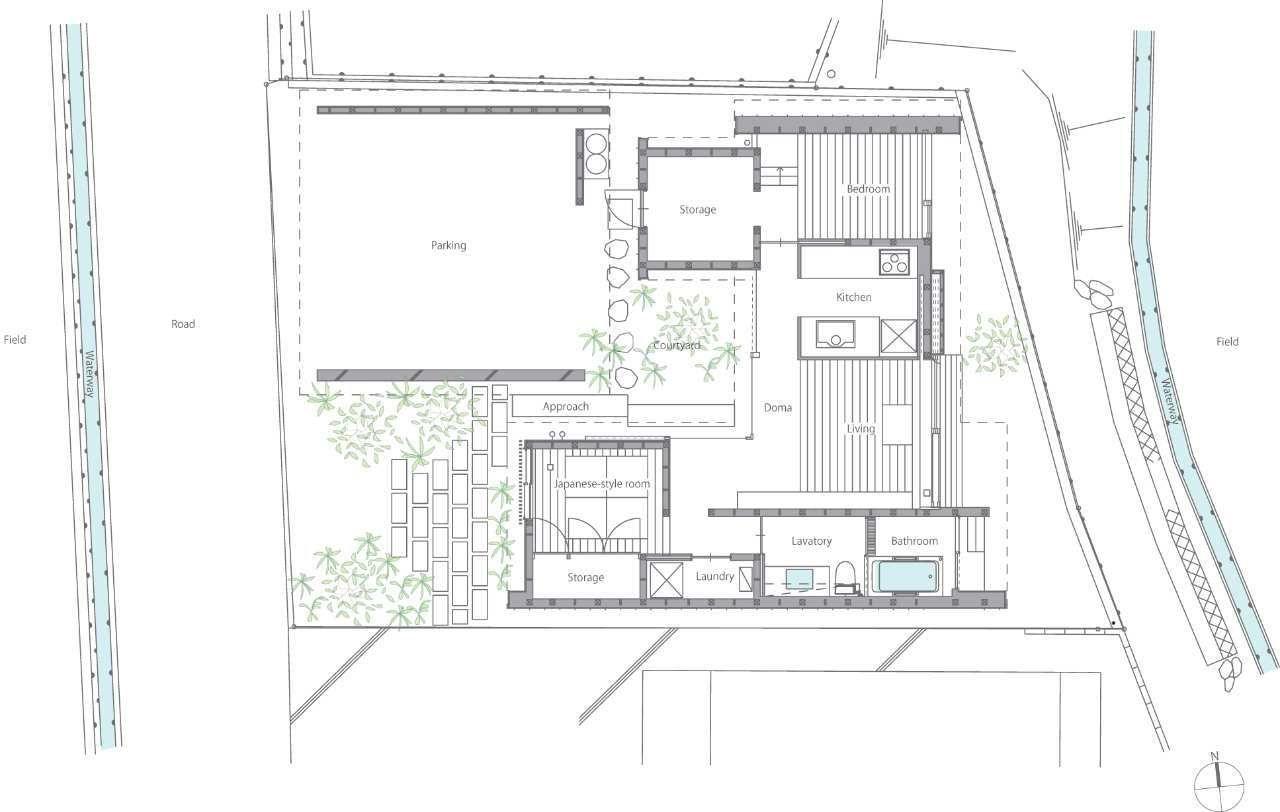 Gallery The Kishigawa Residence By Mitsutomo Matsunami Courtyard House Courtyard House Plans Traditional Japanese House