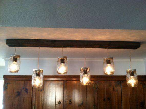 long track lighting island mason jar and wood track lighting 42 long w6 by lengaresdesign