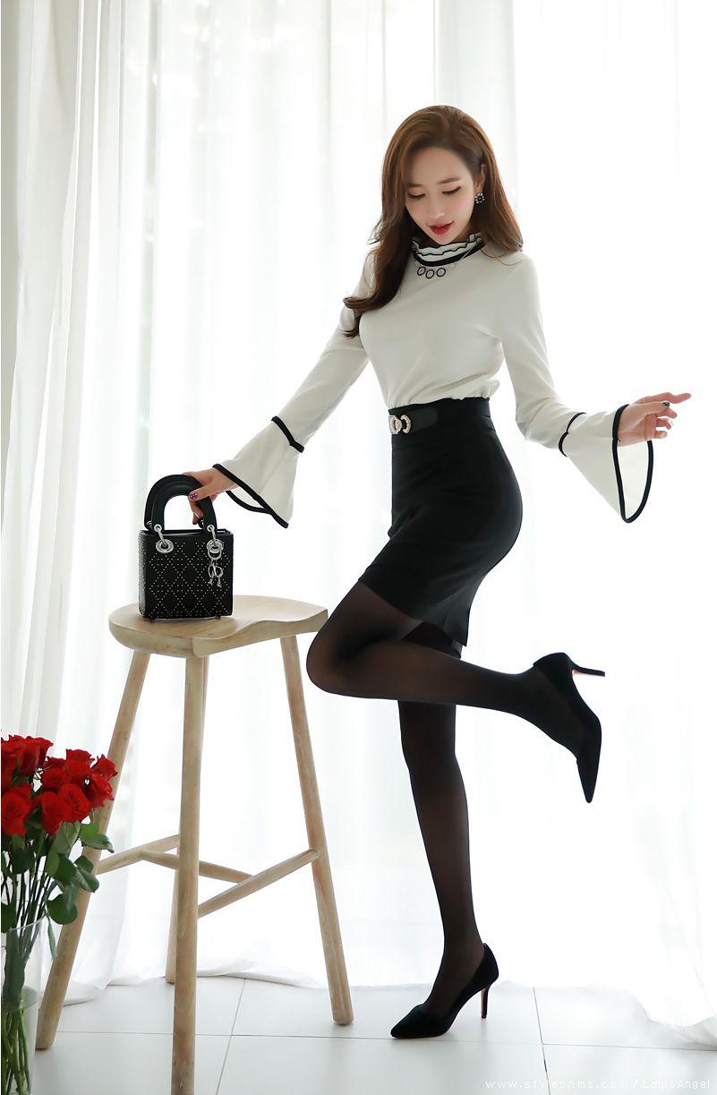 20 Black Skirts/Dresses ideas   korean fashion, asian fashion ...