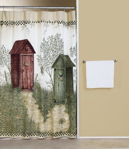 Outhouse Shower Curtains Curtain Bath Outlet Out Houses Bath