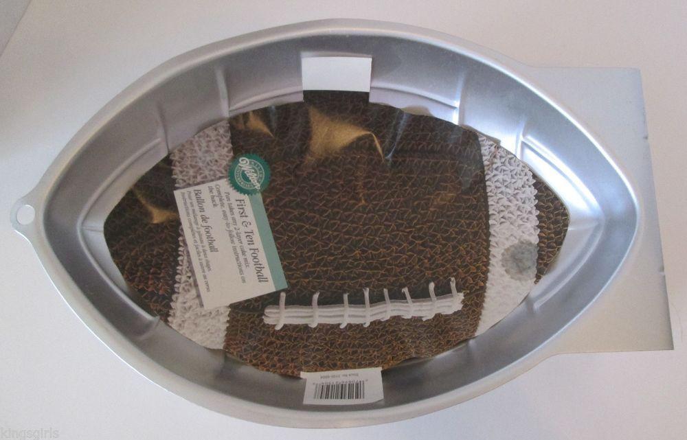 Wilton First and Ten Football Cake Pan Cake Tin Mold w Instructions