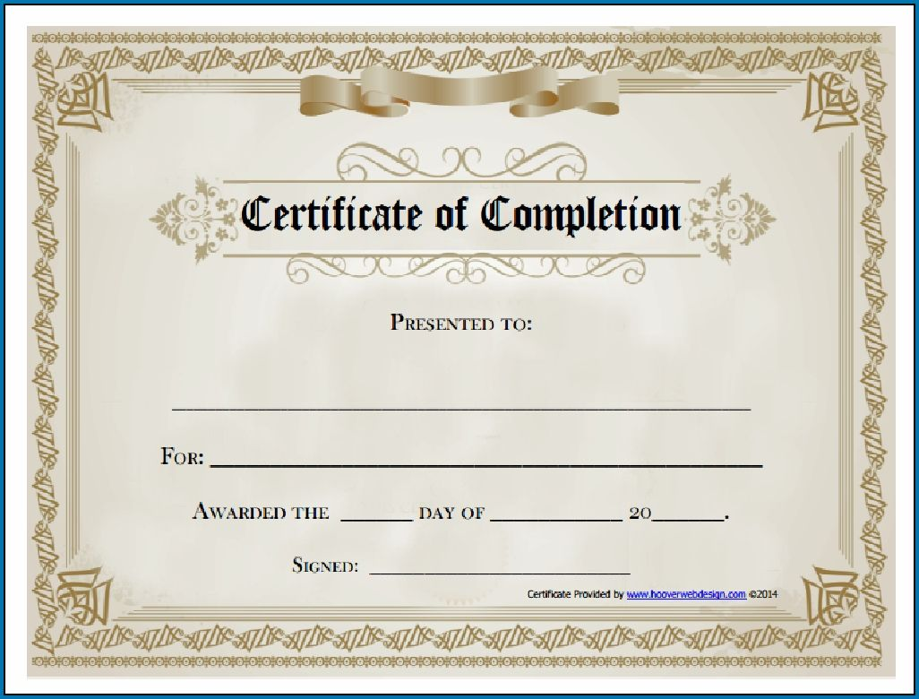 The Astounding Blank Certificate Of Completion Template Co Blank Certificate Template Free Printable Certificate Templates Certificate Of Completion Template Blank certificate of completion template