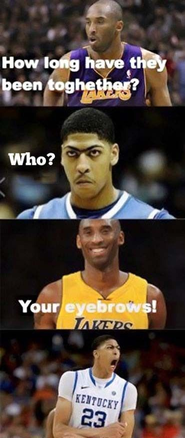 Kobe Bryant and Anthony Davis is part of Basketball funny -