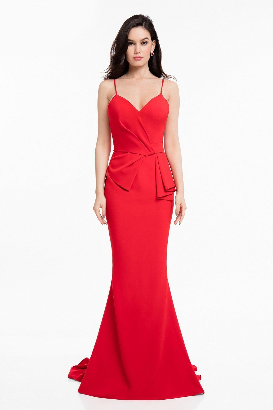 Terani couture gathered detail evening gown in products