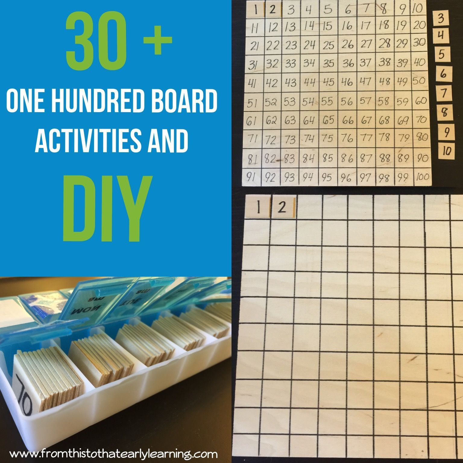 Diy Montessori 100 Board Plus 30 Activities