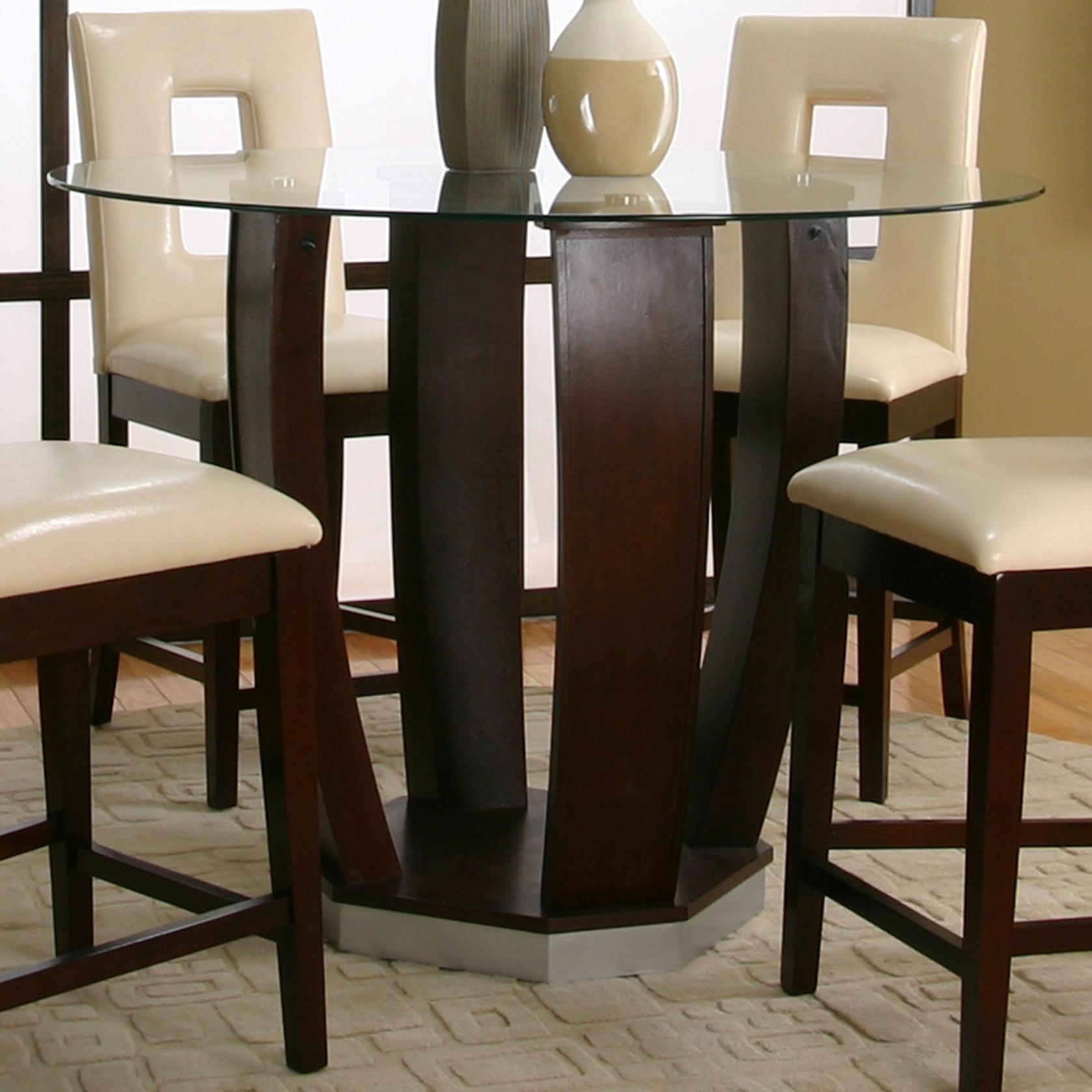 Dining Room Sets Columbus Ohio: Emerson Round Tempered Glass Pub