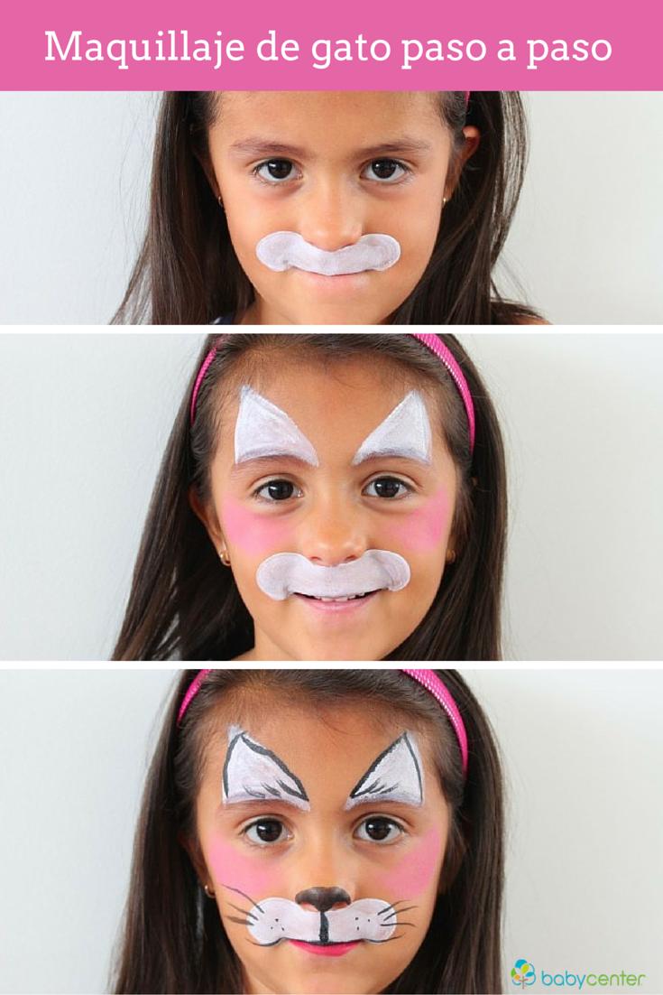 Paso a paso maquillaje de gato maquillaje de gato c mo - Pintura cara halloween ...
