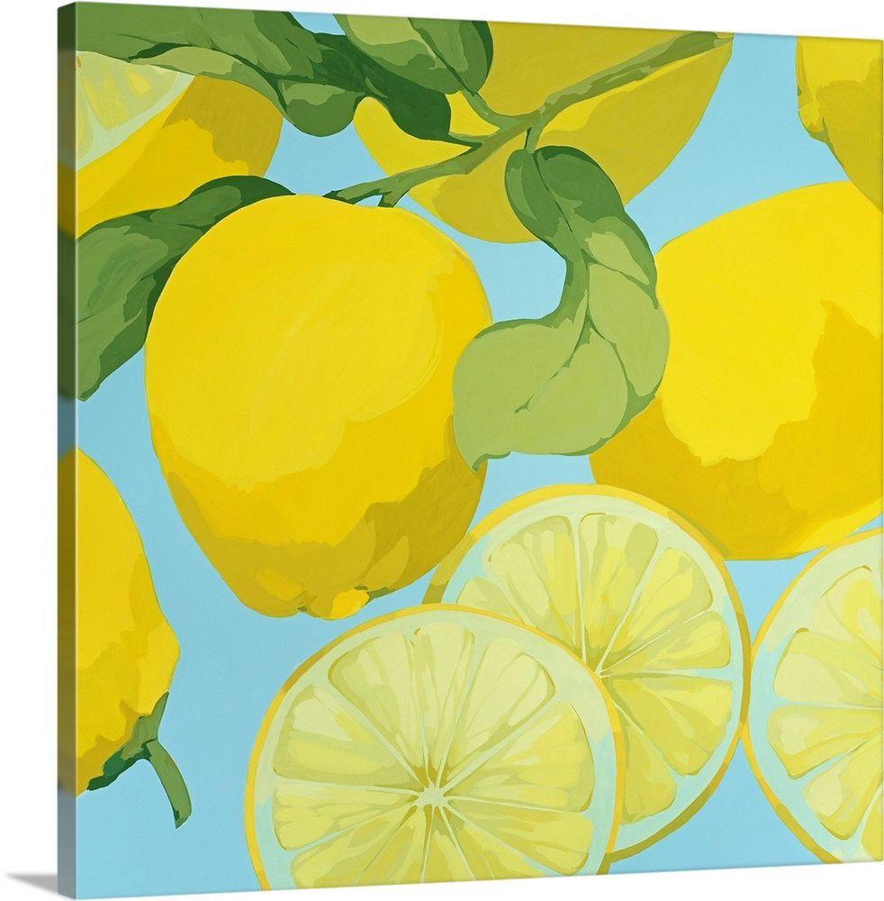 Fresh Lemons Lemon Art Lemon Painting Art