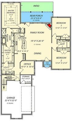 Southern house plan with bonus room jw architectural designs plans also home rh pinterest