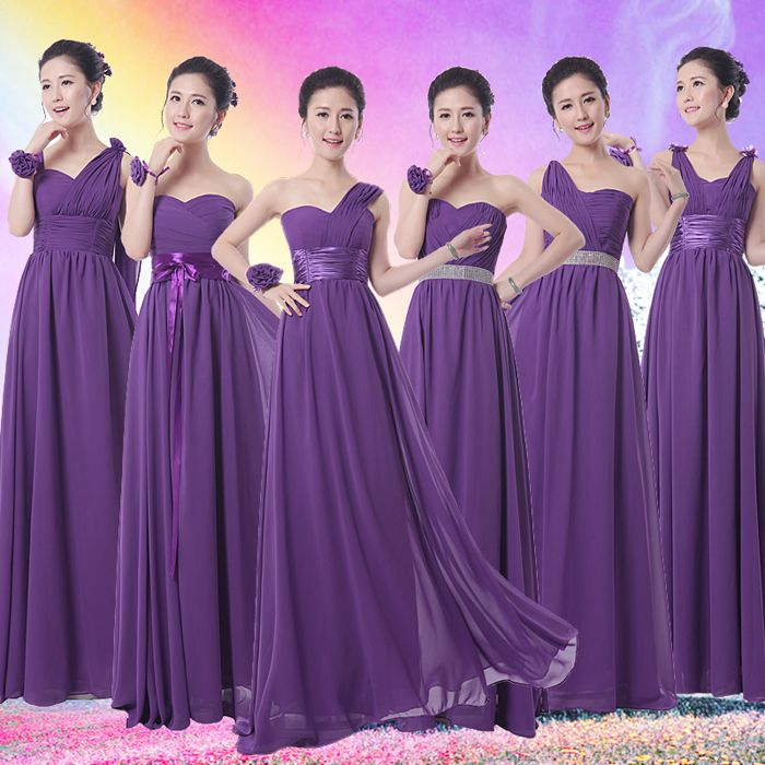 Find More Information about Royal Purple Bridesmaid Dress Long ...