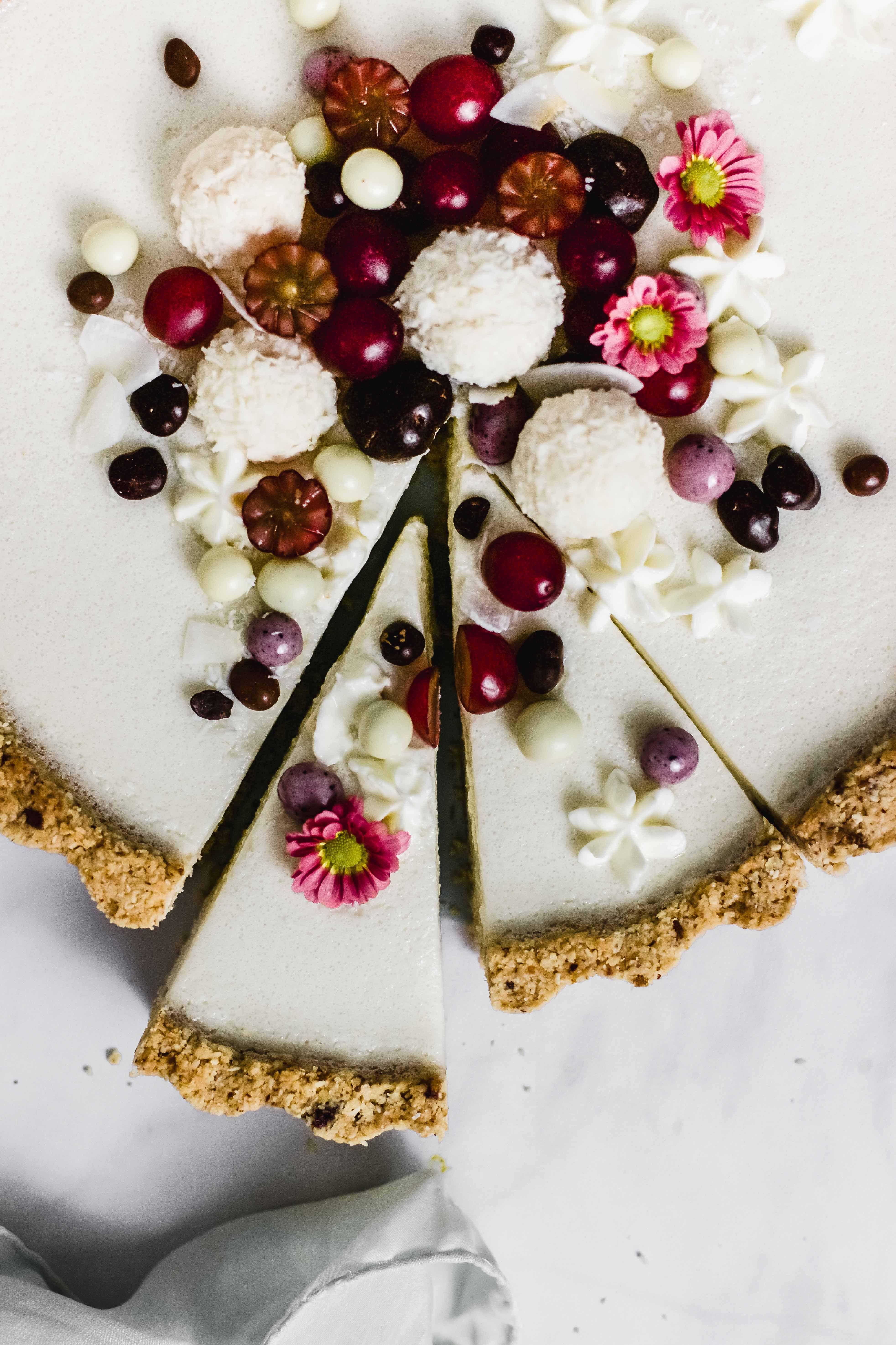 Weiße Schokolade Kokos Tarte #cookiesalad