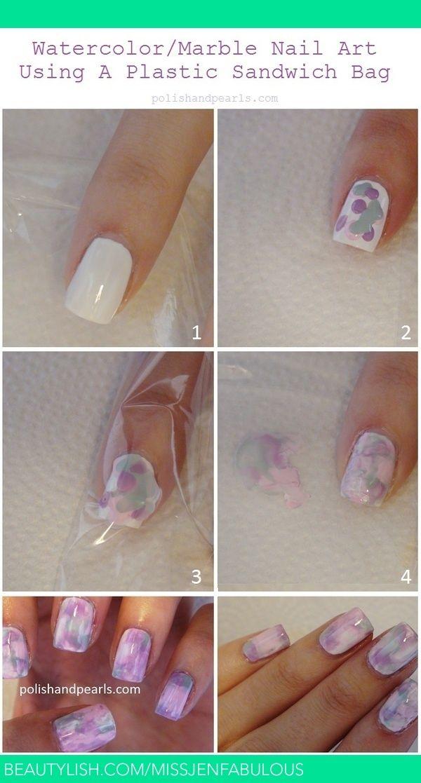 Como Hacer un Diseño de Mármol en las Uñas | Fotos de moda, La uña y ...