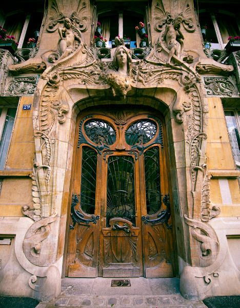 Ten of the most beautiful doors in Paris to walk through - The Local. This one is at 29 Avenue Rapp in the 7th arrondissement.
