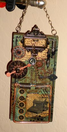 """inspiration for my mousetrap building peeps - """"Build a Better Mouse Trap"""" mixed media class"""
