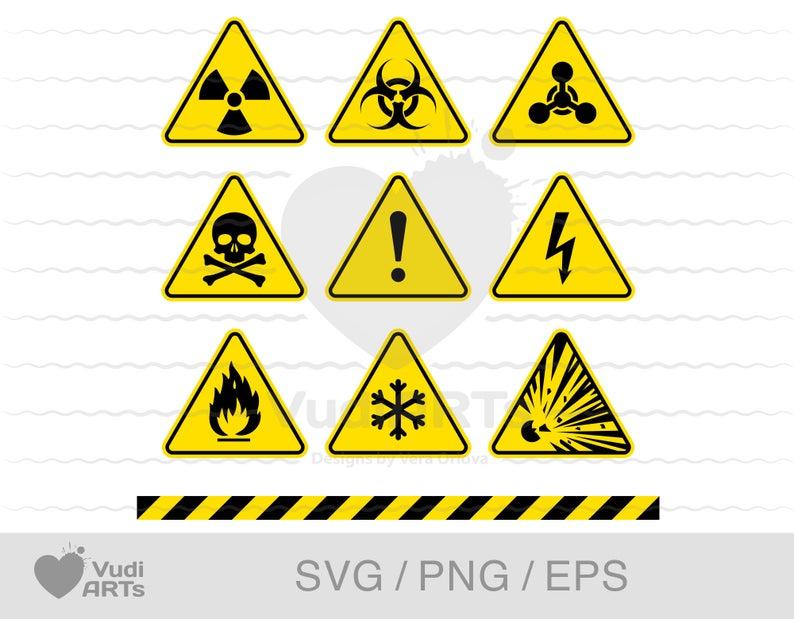 Warning Signs Bundle Svg Eps Png Danger Icon Radiation Etsy In 2021 Apple Logo Wallpaper Miniature Sign Warning Signs