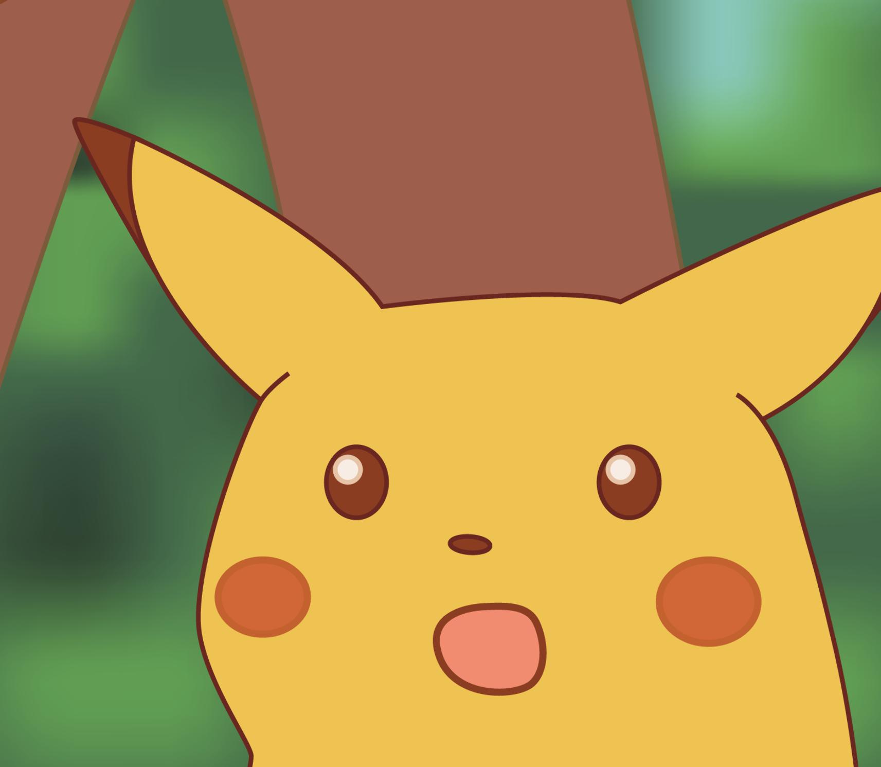 Hd Version Surprised Pikachu Know Your Meme Pikachu Memy Risovat