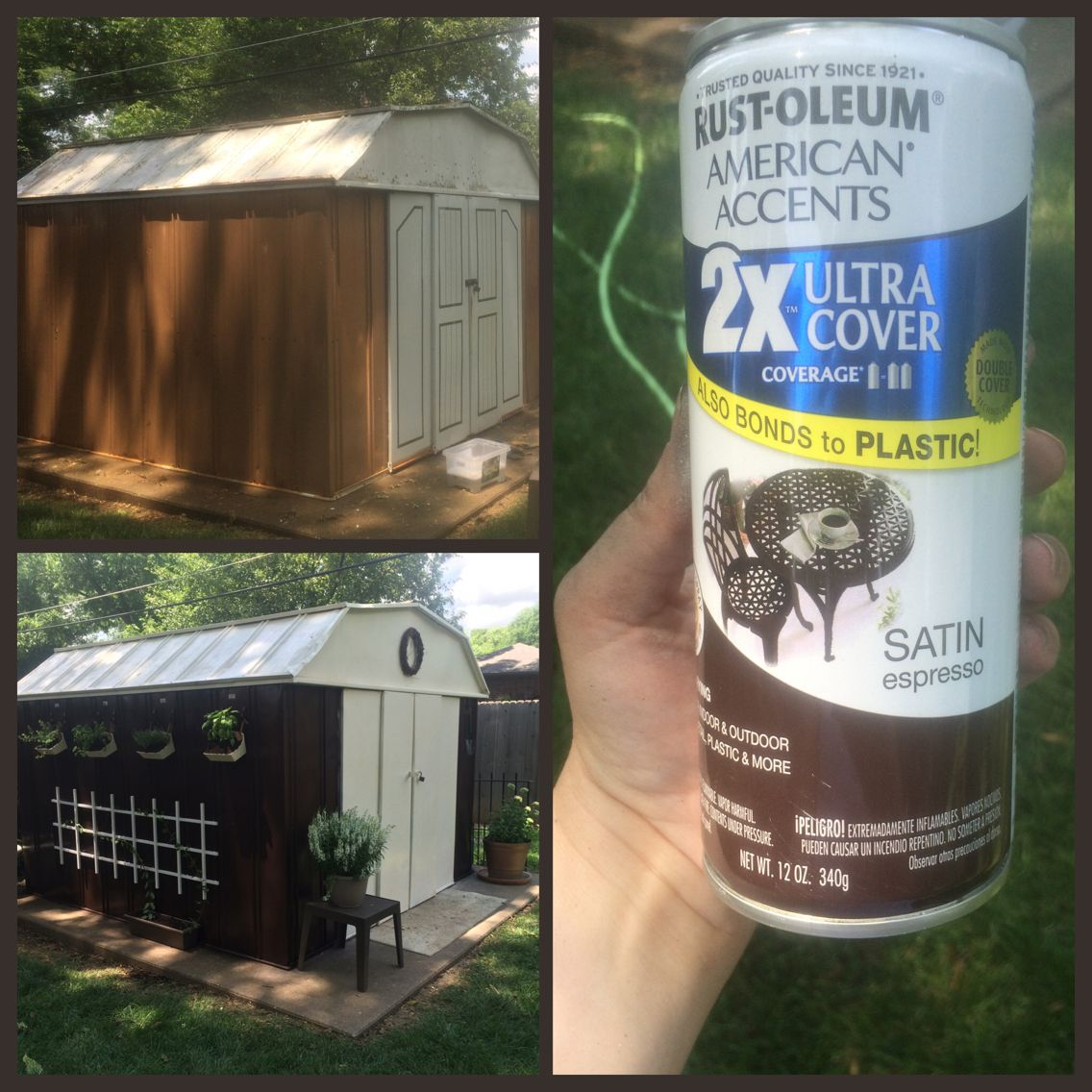 Spray Paint The Metal Shed