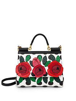9628359ff80 Dolce & Gabbana - Miss Sicily Medium Floral & Polka-Dot Satchel ...