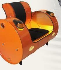 bidon acier et phares auto pour si ge d co bidons pinterest bidon si ge et phare. Black Bedroom Furniture Sets. Home Design Ideas