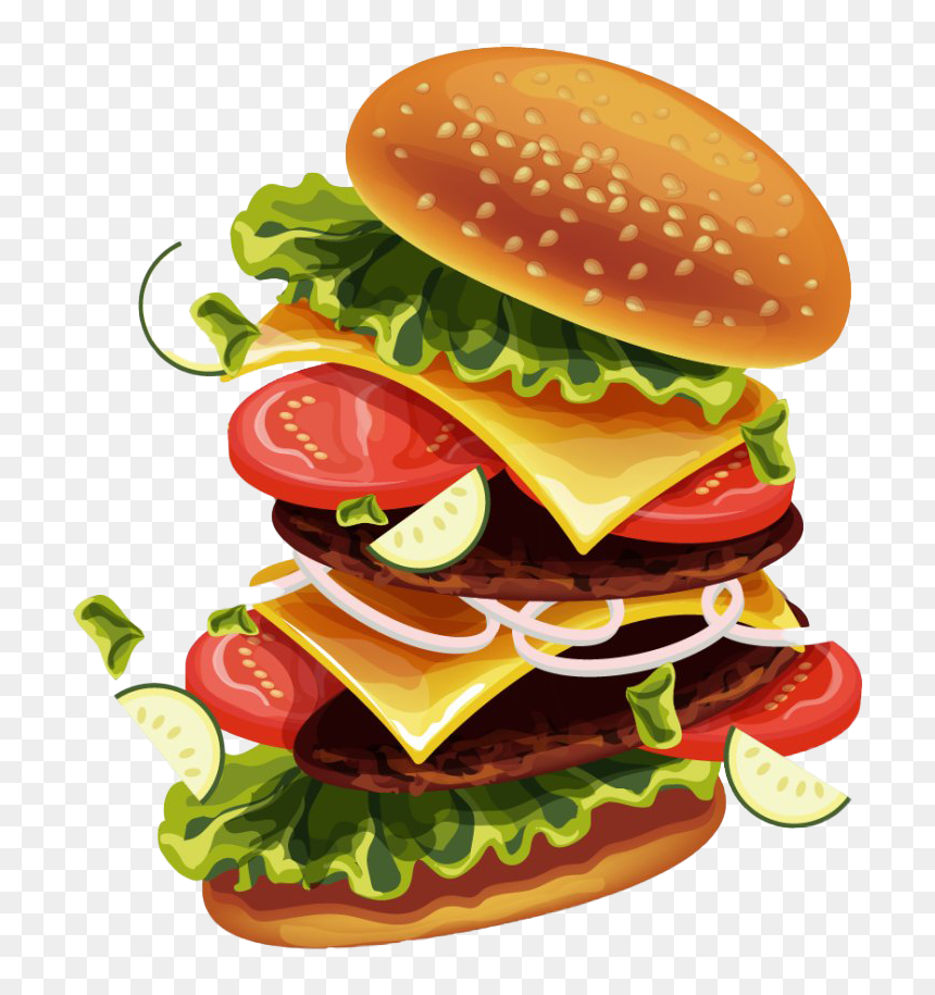 Sandwich Hamburger Png Burger Vector Png Free Transparent Png Is Pure And Creative Png Image Uploaded By Designer To Sea In 2021 Burger Vector Burger Images Burger