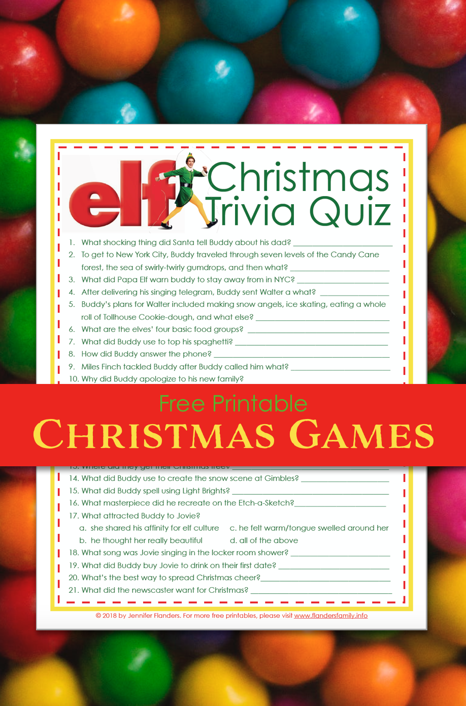 Elf Christmas Trivia Quiz Christmas trivia