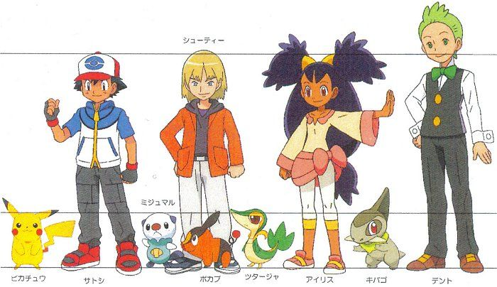 Anime Characters As Pokemon : Production artwork from the pokemon anime and games