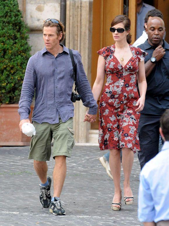 Julia Roberts y Danny Moder, días de trabajo y placer en Roma - moder