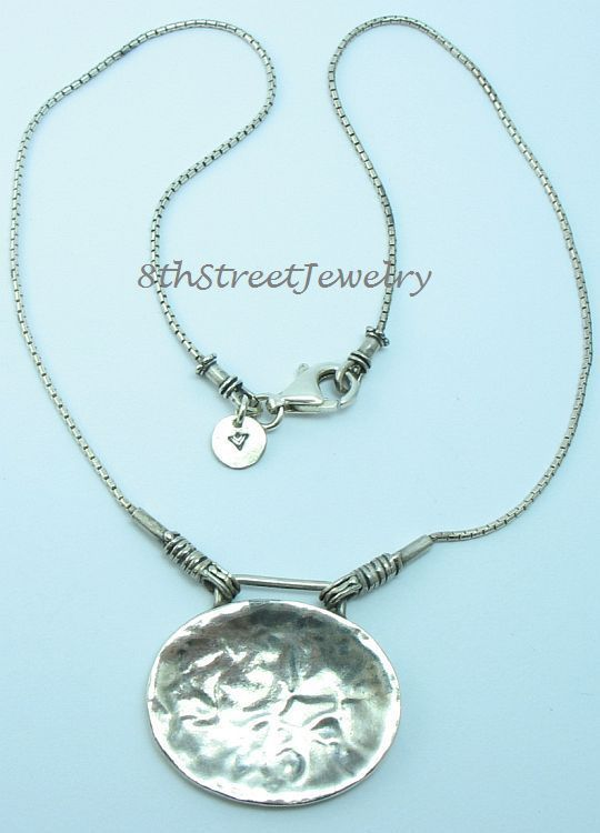 Retired n1356 silpada sterling silver 925 hammered pendant necklace retired n1356 silpada sterling silver 925 hammered pendant necklace 165 silpada necklace aloadofball Images