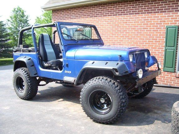 4 Lift Yj With 33 S Google Search Jeep Yj Lifted Jeep Blue Jeep