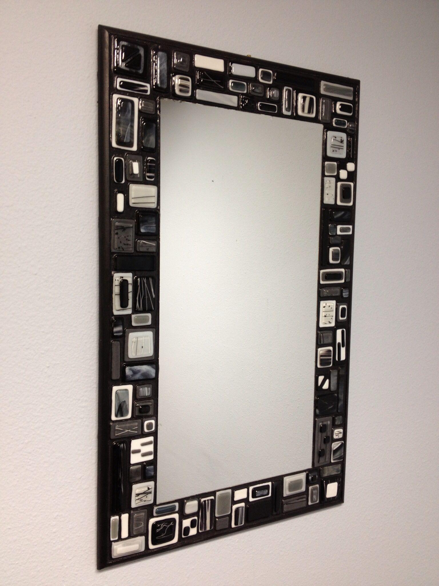 Fused glass mosaic mirror | VITROFUSION | Pinterest | Espejo ...