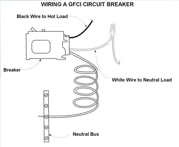 how to wire a gfci circuit breaker