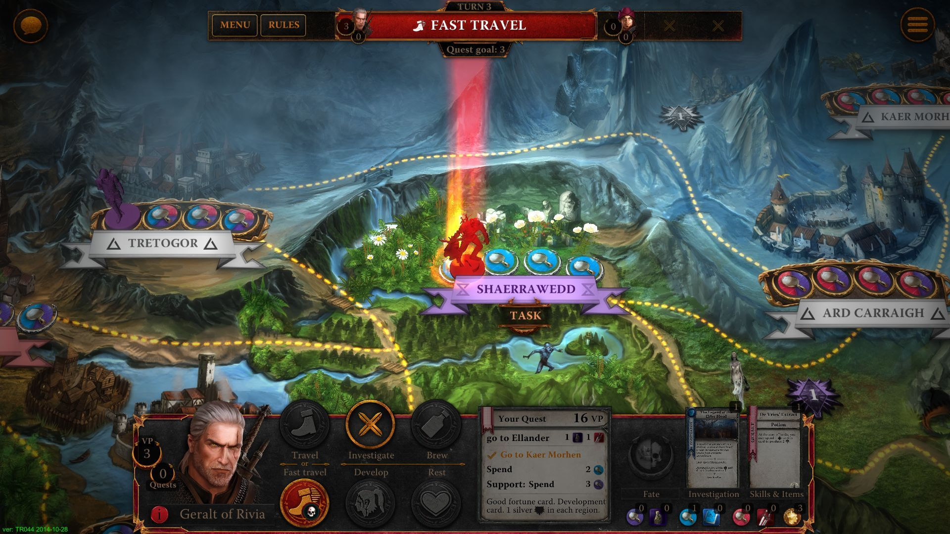Screen The Witcher Adventure Game Adventure games, The