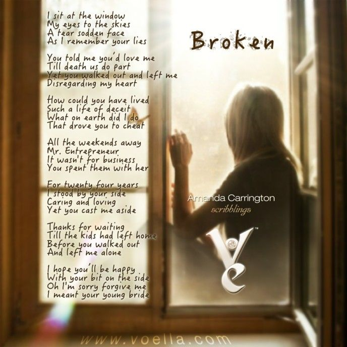 Broken by Amanda Carrington - Today's words were inspired by a