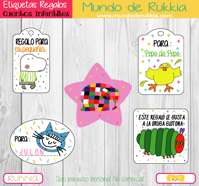 Etiquetas regalos actividades con cuentos etiquetas - Etiquetas para regalos para imprimir ...