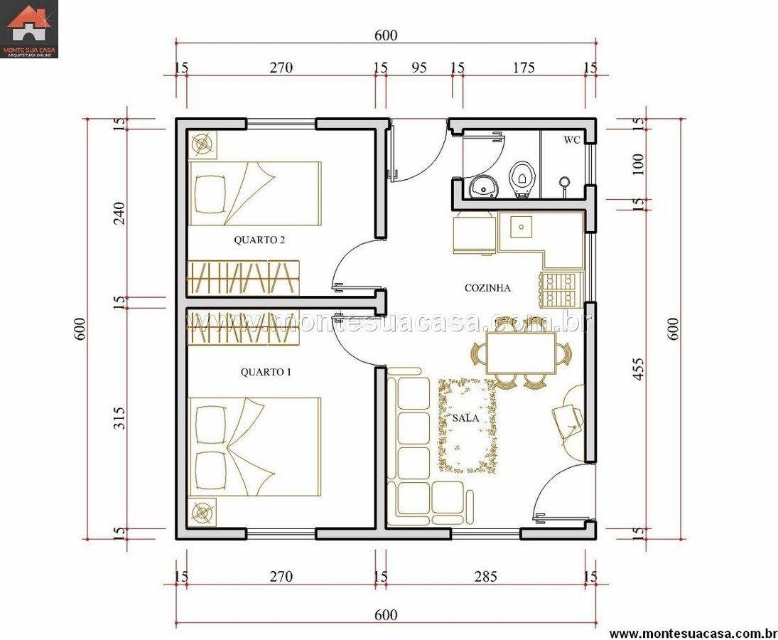 Construir uma casa de 36 mts2 vila velha esp rito santo for Sala de 9 metros quadrados