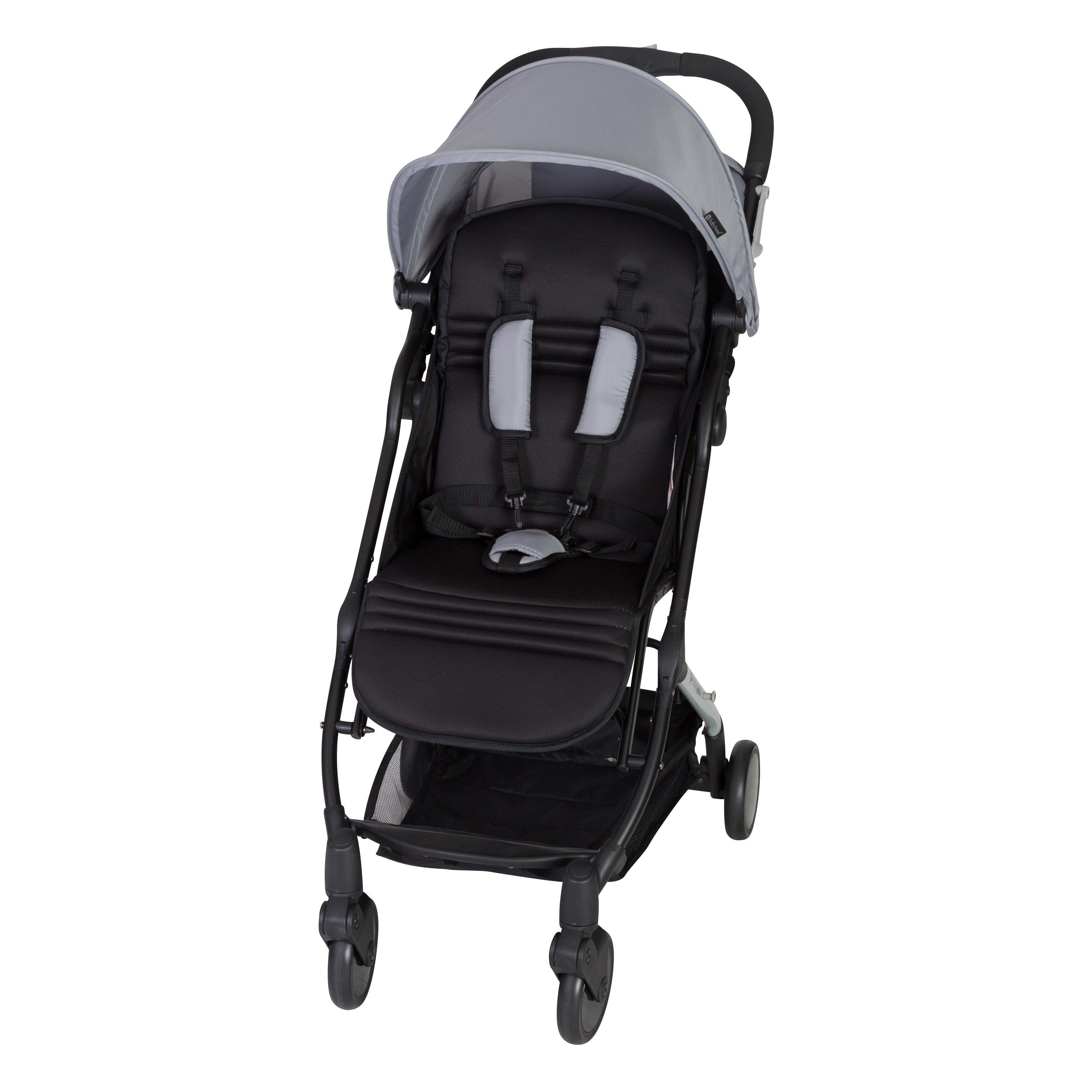 Baby Trend TriFold Mini Stroller,Pebble, Grey Baby