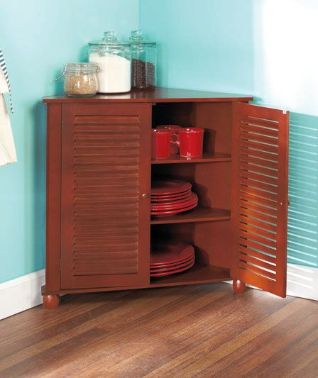 Dining Room Storage Ideas To Keep Your Scheme Clutter Free: Corner Shutter Storage Cabinets