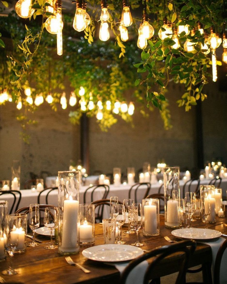 Candlelit wedding reception #weddingdecor #romanticwedding