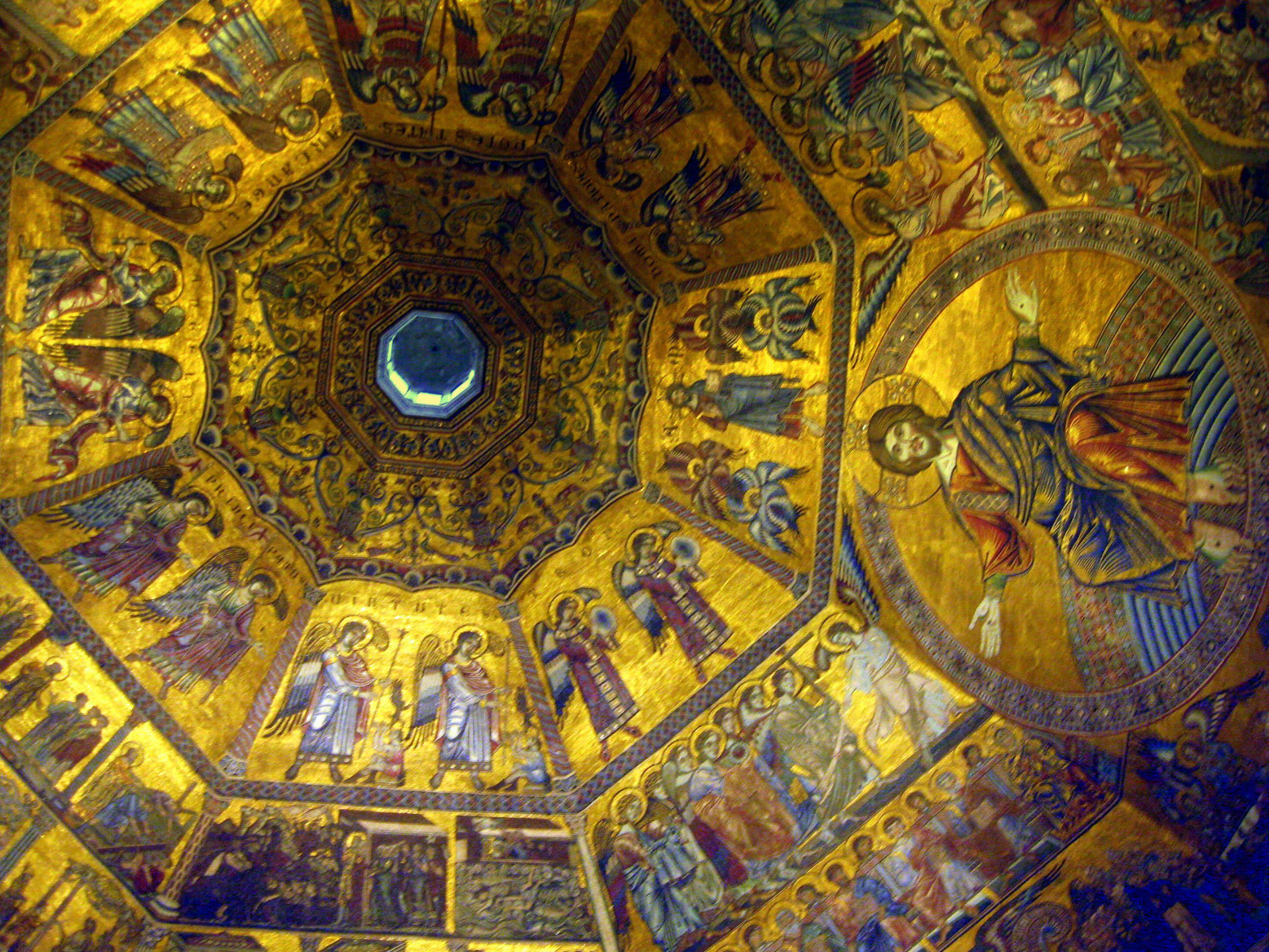 Murales en el techo del Baptisterio de la Catedral de Florencia - DIC 2009.