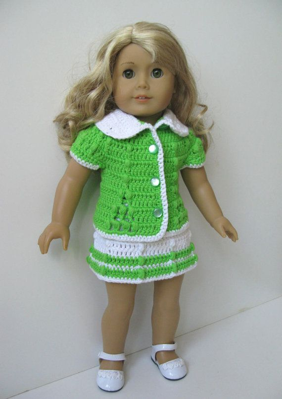 SUMMER SET American Girl 18 inch doll 2 pc set crochet pattern ...