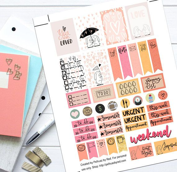 You Are Loved Theme Planner Weekly Sticker Kit Happy Planner
