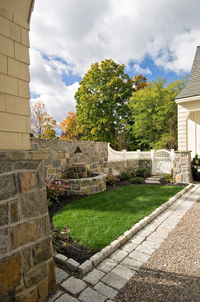 Love The Stone Tile For A Patio: Love The Combination Of The Pea Stone, Cobblestones And