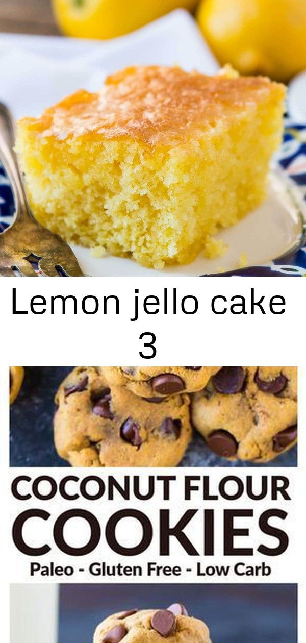 Lemon jello cake 3 This Lemon Jello Cake is perfect for anytime of the year The fresh tastes of summer or to brighten the winter holiday meals Soft and chewy Paleo Coconu...