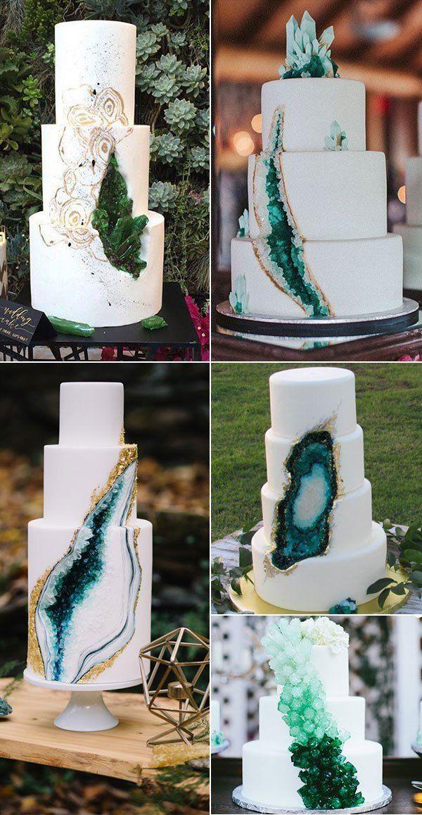 Funkelnde Geode-Hochzeitstorten – Trendy Wedding Ideas   – Wedding