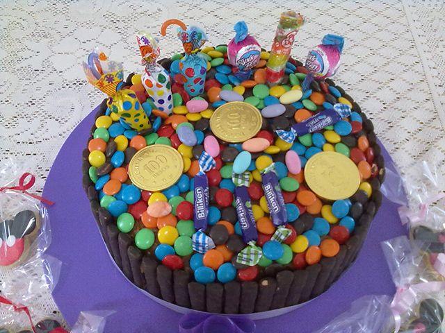 Torta para cumplea os de ni os con golosinas y chocolates - Ideas de cumpleanos para ninos ...