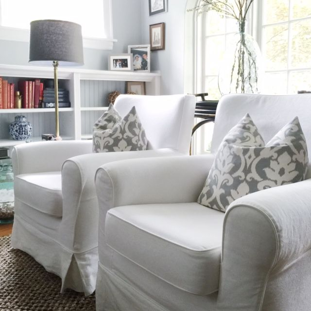 Slipcover Furniture in the Living Room | new house | Cottage ...