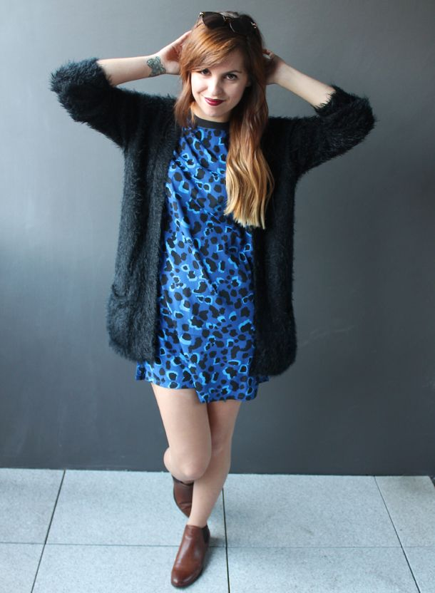 eb612a322089 Sweet Monday - Monki leopard print dress, Missguided cardigan and Ozeal  sunglasses.