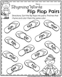 Summer Kindergarten Worksheets | Kind