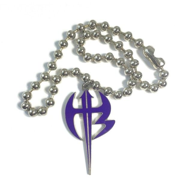 Jeff hardy hardy boyz purple pendant necklace silver chain wwe 20 jeff hardy hardy boyz purple pendant necklace silver chain wwe 20 liked aloadofball Image collections